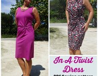 Twist front dress pattern