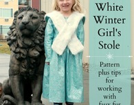 White Winter Girl's Stole Pattern and Tips for Working with Faux Fur