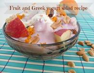 Fruit and Greek yogurt salad