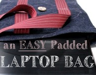 How to sew a padded laptop bag