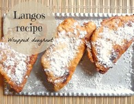 Hungarian Langos - wrapped doughnut with cheese filling