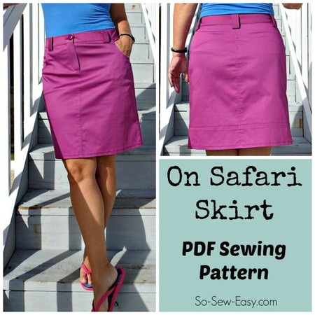 On Safari skirt pattern