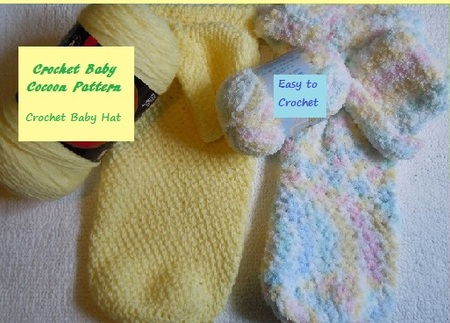 Easy Crochet Baby Cocoon and Hat Pattern