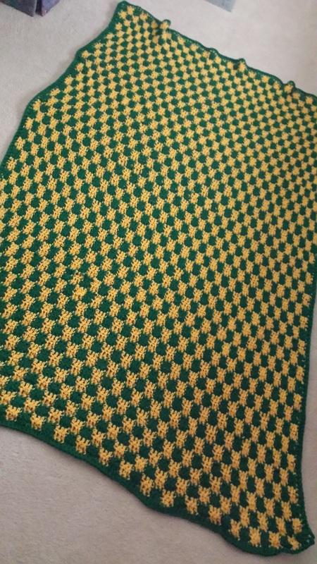 Crochet Checker Afghan Pattern