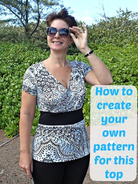 Free crossover top pattern – with a difference!