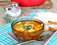 Chicken wings and backs sour soup