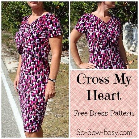 Cross My Heart – free easy dress pattern
