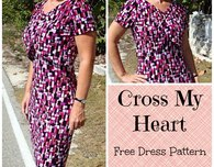 Cross My Heart – free easy dress pattern