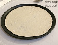 Homemade thin pizza crust