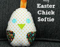 Easter chick softie pattern
