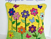 Spring Applique Pillow Cover