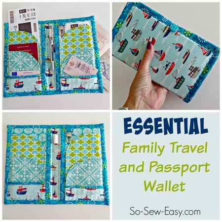 Travel and Passport Wallet Pattern