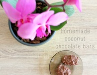 Coconut chocolate bars with Milka chocolate
