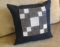 Rhinestone quilt block mini pillow