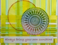 Sunshine ribbon wall art