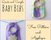 Quick and Simple Spring / Easter Baby Bibs