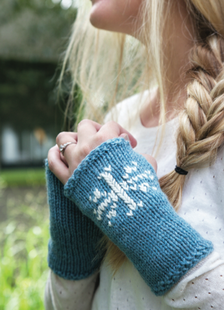 1 Hour Fingerless Snowflake Gloves