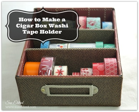 Cigar Box Washi Tape Holder