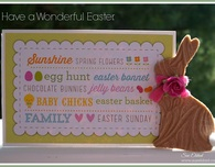 Embossed Bunny Easter Greetings