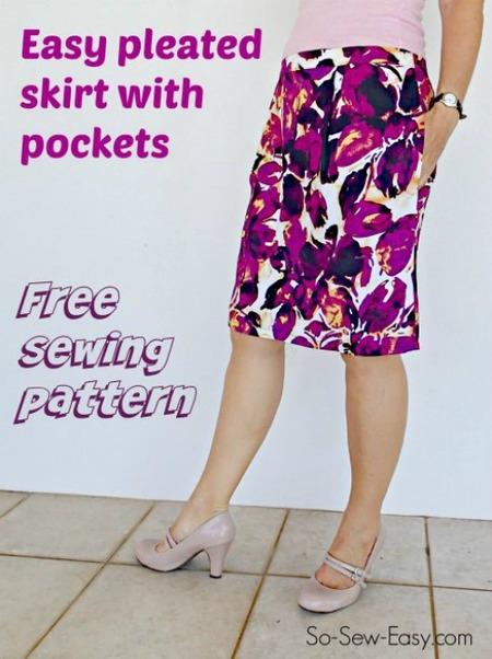 Simple Summer pleated skirt pattern