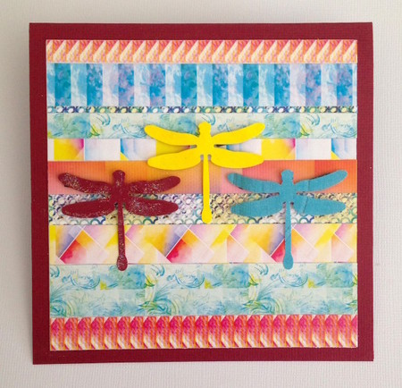 Strips and Dragonflies Greeting Card