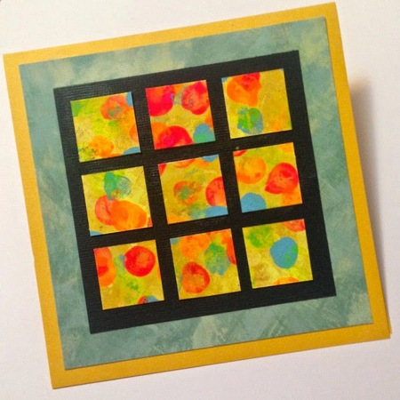 Thumbprint Mosaic Greeting Card