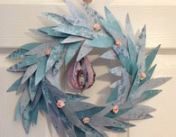 Paper eucalyptus holiday wreath