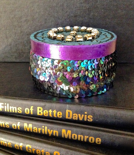 Sequined gift box