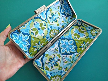 How to make a box frame clutch purse