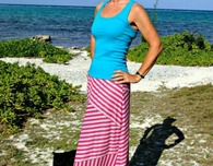 Moved to tiers striped maxi skirt pattern