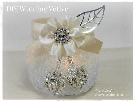 DIY Frosted Wedding Votive