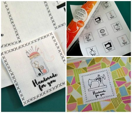 Handmade For You Printable Fabric Labels