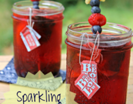 Sparkling berry lemon iced tea