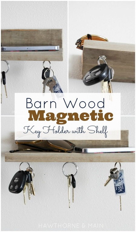 Barn Wood Magnetic Key Holder
