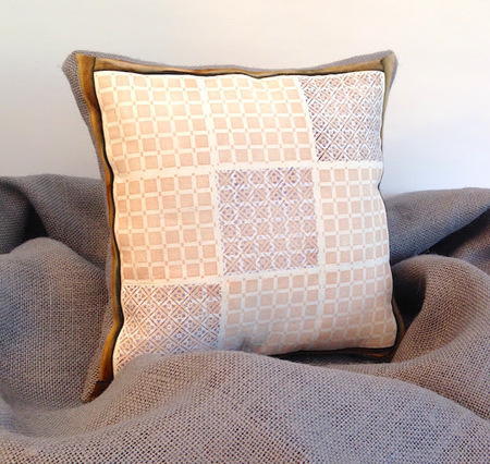 Stamped accent pillow