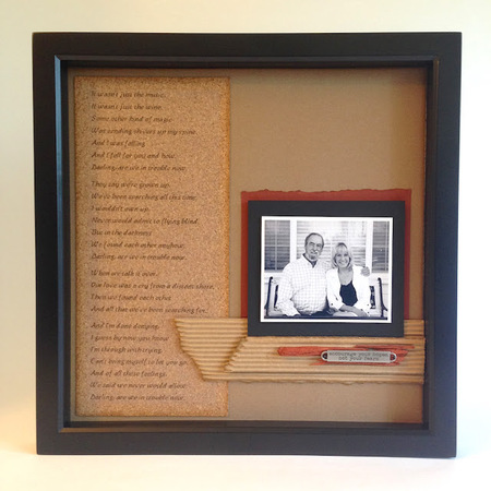 Shadowbox scrapbook layout