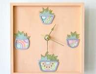Make Your Own Succulent Clock Face