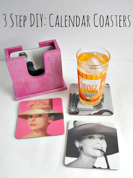 3 Step DIY: Calendar Coasters