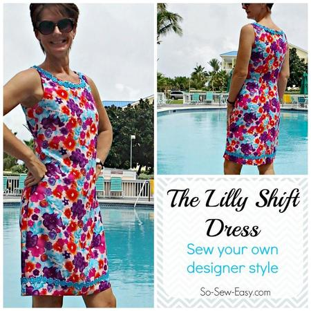 Lilly shift dress pattern