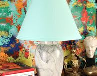 Marbled Thrift Store Lamp DIY