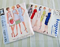 Vintage sewing pattern printable fabric purse