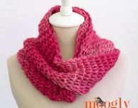 Top of the Tunisian Infinity Scarf