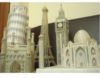 Miniature of Landmarks made from pen refills