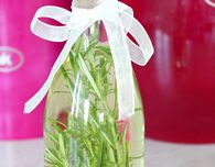 Homemade rosemary infused oil