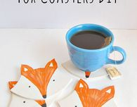 DIY Clay Fox Coasters
