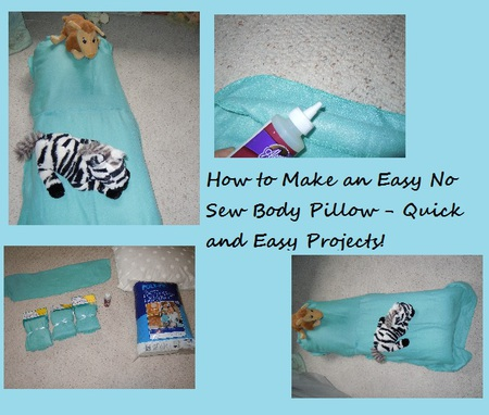 Easy to Make No Sew Body Pillow