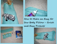Easy to Make No Sew Body Pillow