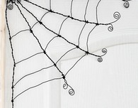 Halloween wire spider web tutorial