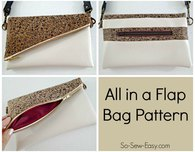 All in a flap bag - fold over bag pattern