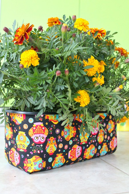 DIY Fabric covered planter